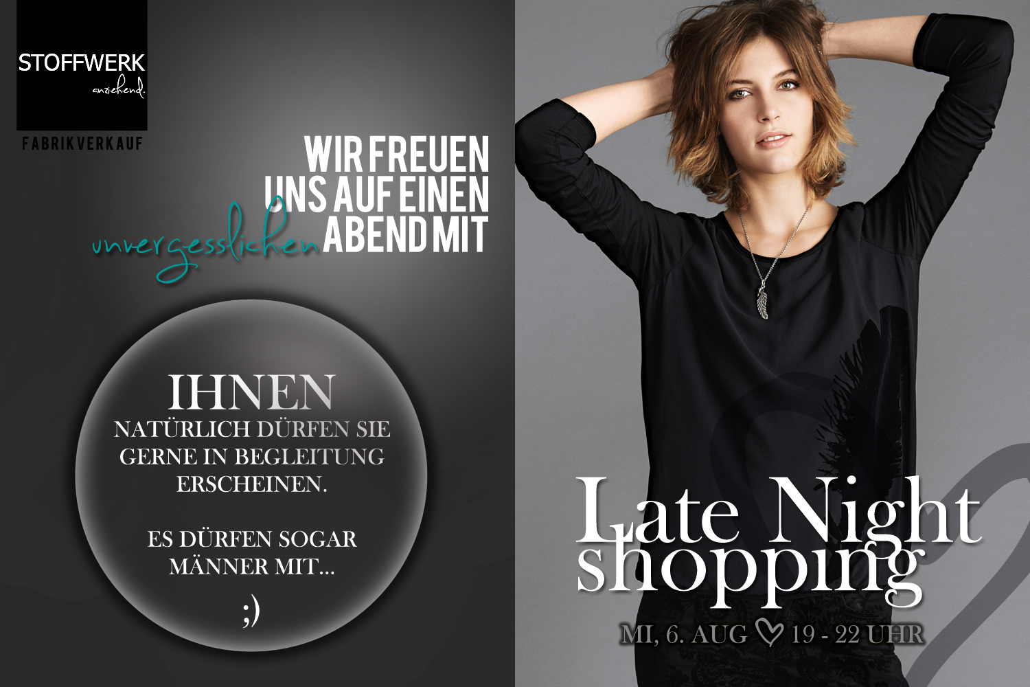 Late Night Shopping // 6. Aug // 19 – 22 Uhr